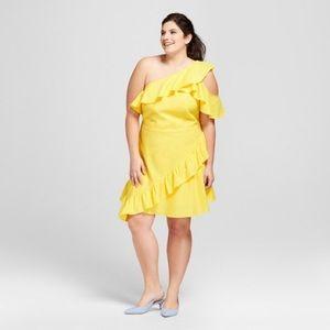 Ruffled One Shoulder Dress